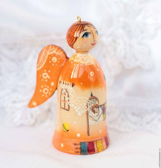новогодние игрушки, подарки, сувениры, на память , на радость. ангел, роспись по дереву. рустик