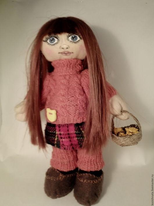 Коллекционные куклы ручной работы. Ярмарка Мастеров - ручная работа. Купить Маша и лисички. Handmade. Рыжий, большеногая кукла