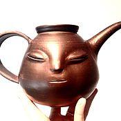 Посуда ручной работы. Ярмарка Мастеров - ручная работа Чайник глиняный волшебник.. Handmade.