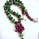 necklace, designer necklace, necklace for every day necklace out, the necklace of rubies, a necklace of emeralds, necklace with pendant, necklace for gift, beads from rubies, emeralds beads, beads wit