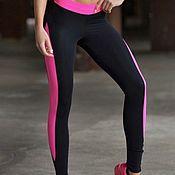 Спортивные костюмы ручной работы. Ярмарка Мастеров - ручная работа Спортивные Лосины/ леггинсы Designed for Fitness Basic Pink. Handmade.
