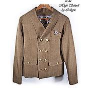 Одежда handmade. Livemaster - original item Jacket with a collar-wool shawl. Handmade.