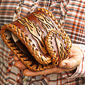 Сумки и аксессуары handmade. Livemaster - original item Biker leather wallet