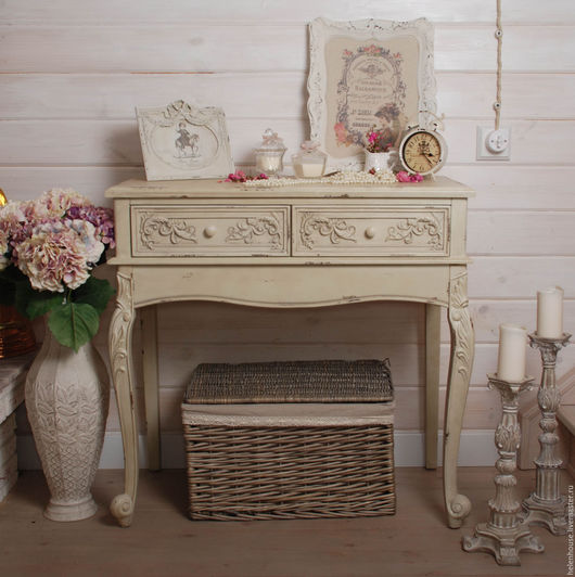 Мебель ручной работы. Ярмарка Мастеров - ручная работа. Купить Столик-консоль. Handmade. Прованс, прованс стиль, фотосессия
