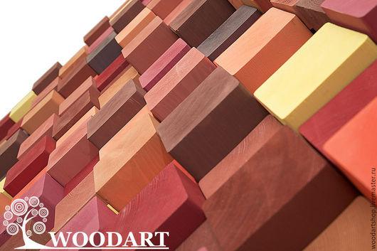 Абстракция ручной работы. Ярмарка Мастеров - ручная работа. Купить Акустические стеновые панели (90х160). Handmade. Бордовый, акриловые краски