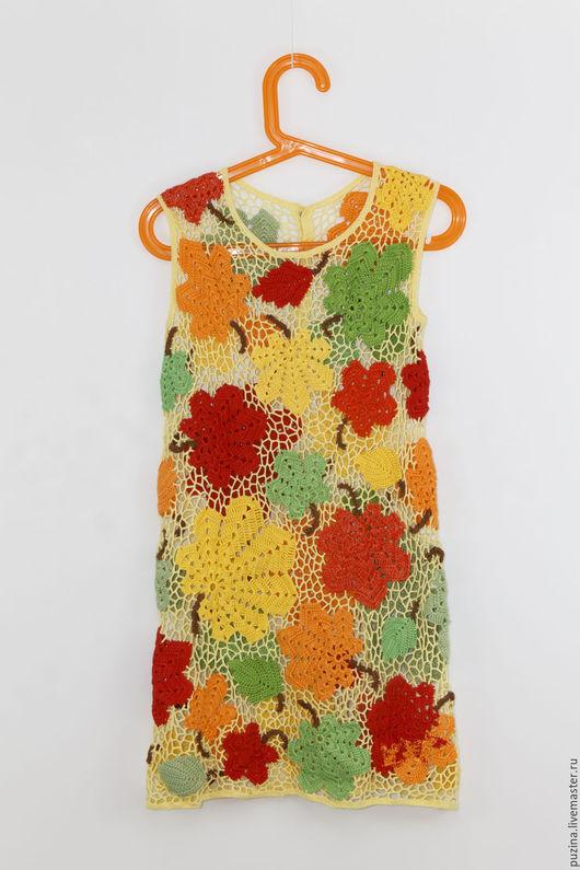 Одежда для девочек, ручной работы. Ярмарка Мастеров - ручная работа. Купить Платье Праздник Осени. Handmade. Желтый, платье для девочки