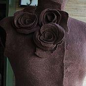 Одежда ручной работы. Ярмарка Мастеров - ручная работа Жилет валяный Какао. Handmade.