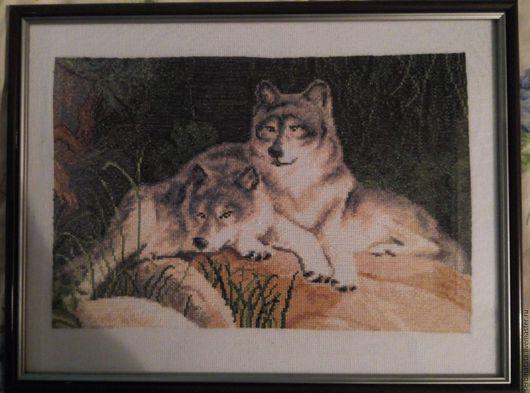 Животные ручной работы. Ярмарка Мастеров - ручная работа. Купить Волчья верность (картина выставлена как пример, не для продажи). Handmade.