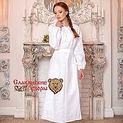 Русский стиль handmade. Livemaster - original item White Bathing shirt. Handmade.
