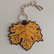 Сумки и аксессуары handmade. Livemaster - original item Pendant.Leather keychain. suspension bag. Pendant from the skin. Sheet. Handmade.