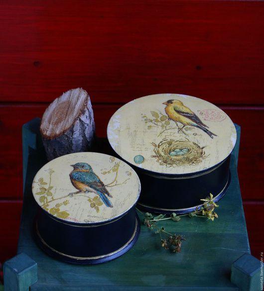 """Шкатулки ручной работы. Ярмарка Мастеров - ручная работа. Купить Шкатулки """"Птички невелички"""". Handmade. Комбинированный, шкатулка для мелочей"""