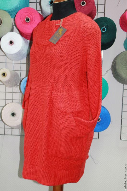 Платья ручной работы. Ярмарка Мастеров - ручная работа. Купить Платье вязаное №47 из 30% итальянской шерсти.. Handmade.