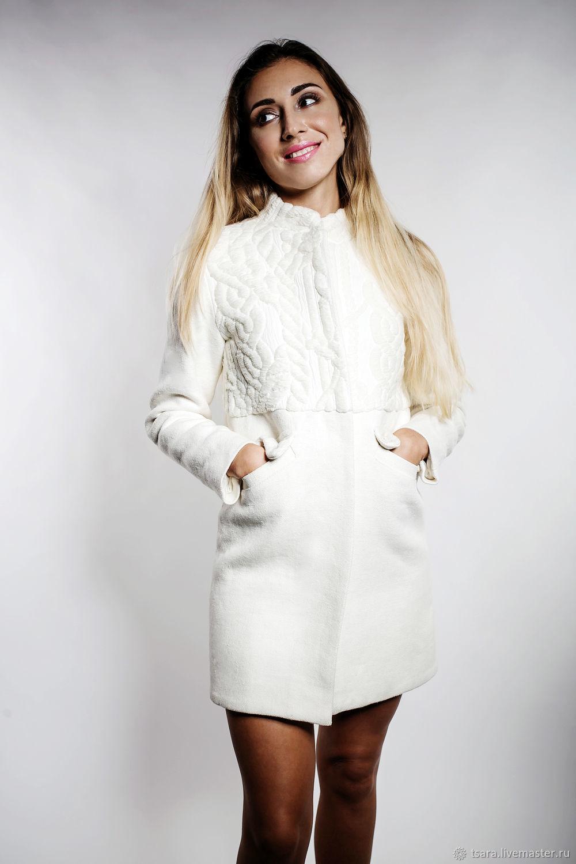 9c56a4a1941 Верхняя одежда ручной работы. Ярмарка Мастеров - ручная работа. Купить  Пальто прямое белое.