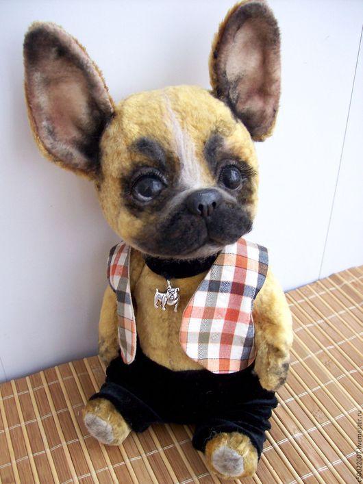 Мишки Тедди ручной работы. Ярмарка Мастеров - ручная работа. Купить Жоржик. Handmade. Бежевый, бульдог, плюш винтажный, шплинты