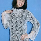 Одежда handmade. Livemaster - original item 185 knit down jacket white, clothing, jackets and sweaters. Handmade.