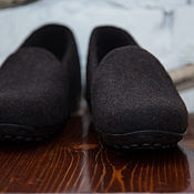 Обувь ручной работы handmade. Livemaster - original item Felted loafer Bitter chocolate. Handmade.