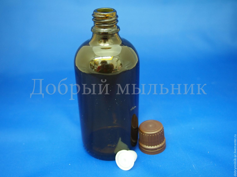 Флакон стекло коричневый 100 мл с капельницей и КПВ