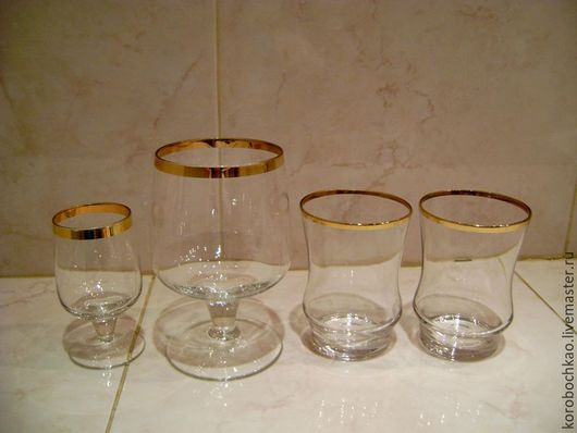 Винтажная посуда. Ярмарка Мастеров - ручная работа. Купить Бокалы, рюмки, стаканы, винтаж. Handmade. Винтаж, стеклянная посуда