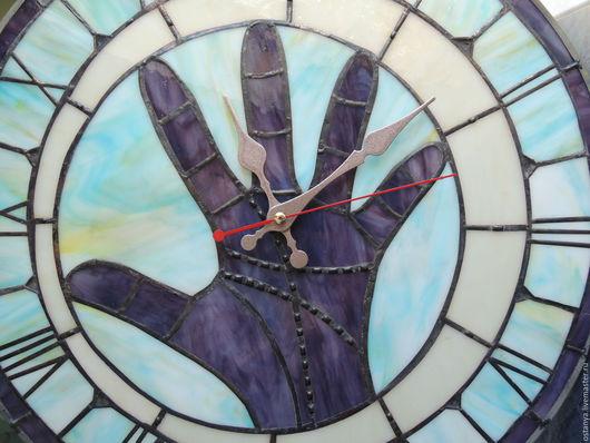 """Часы для дома ручной работы. Ярмарка Мастеров - ручная работа. Купить Большие настенные часы из стекла """" Моя битва"""".. Handmade."""