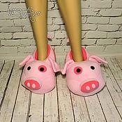 Обувь ручной работы handmade. Livemaster - original item Slippers-toys pig Plump. Handmade.