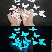 Для дома и интерьера handmade. Livemaster - original item Glow stickers - Naughty butterflies. For walls and ceilings. Handmade.