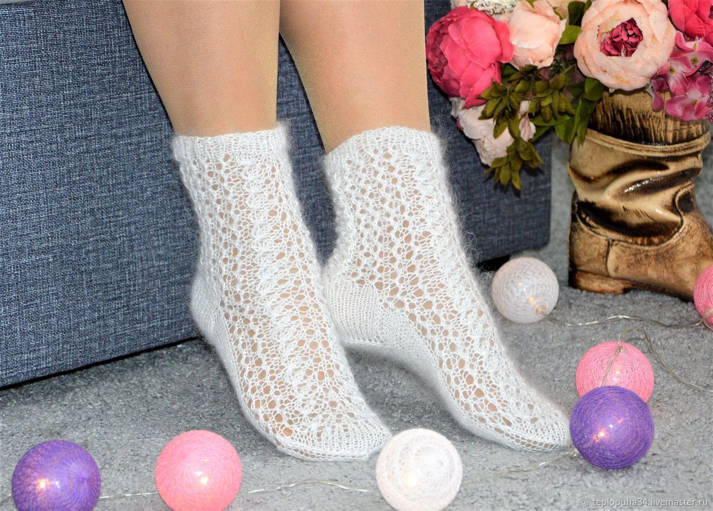 Openwork thin downy socks for women, Socks, Urjupinsk,  Фото №1
