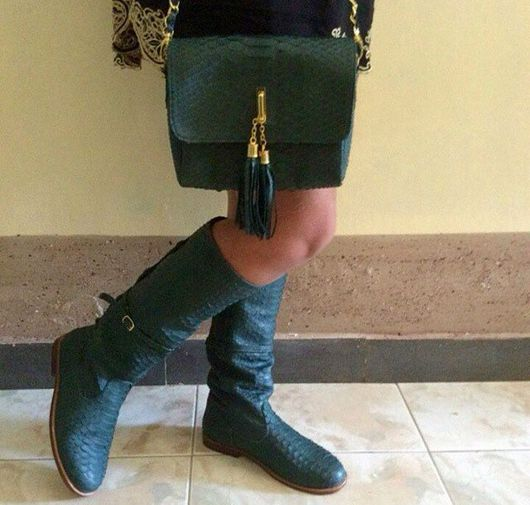 Обувь ручной работы. Ярмарка Мастеров - ручная работа. Купить Сапоги из натуральной кожи питона. Handmade. Сапоги, сапоги из питона