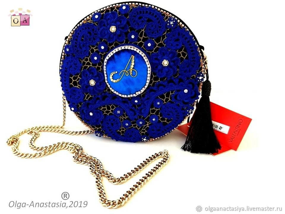 Ирландское кружево именная вечерняя сумочка на основе Valentino, Клатчи, Минск,  Фото №1
