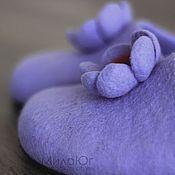 """Обувь ручной работы. Ярмарка Мастеров - ручная работа """"Magic flower"""" валяные тапочки. Handmade."""
