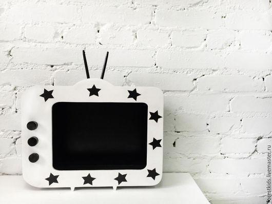 Детская ручной работы. Ярмарка Мастеров - ручная работа. Купить Полка телевизор. Handmade. Полка, полка деревянная, для детей