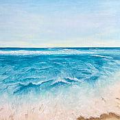 handmade. Livemaster - original item Oil painting: Tropical landscape, m / x, 50h40, post-impressionism. Handmade.