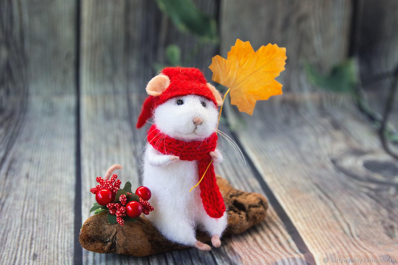 Осенний Мышь и листик клёна, Мягкие игрушки, Краснодар,  Фото №1