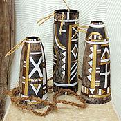 """Для дома и интерьера ручной работы. Ярмарка Мастеров - ручная работа Вазы """"Африка"""". Handmade."""