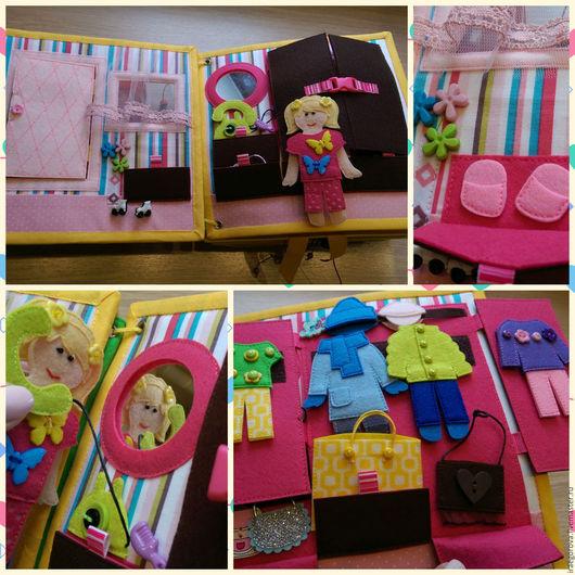 """Развивающие игрушки ручной работы. Ярмарка Мастеров - ручная работа. Купить Книжка """"кукольный домик"""".. Handmade. Комбинированный, кукла для девочки"""