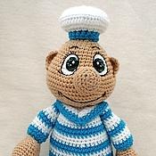 Куклы и игрушки ручной работы. Ярмарка Мастеров - ручная работа Вязаный  бравый  Морячок. Handmade.