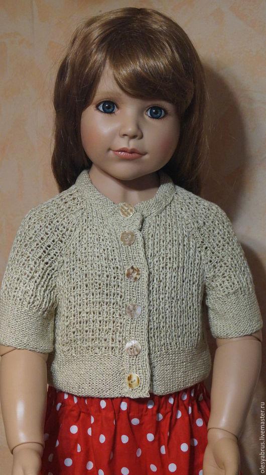 Одежда для девочек, ручной работы. Ярмарка Мастеров - ручная работа. Купить Болеро. Handmade. Бежевый, болеро вязаное купить