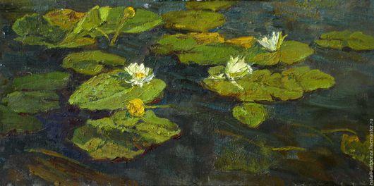 Заросший пруд ,лилии и кувшинки- летний мотив.Во все времена вдохновлял художников  этот сюжет)))