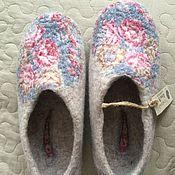 Обувь ручной работы. Ярмарка Мастеров - ручная работа Валяные тапочки р. 37. Handmade.