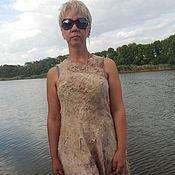 """Одежда ручной работы. Ярмарка Мастеров - ручная работа Валяное платье """"У реки"""". Handmade."""