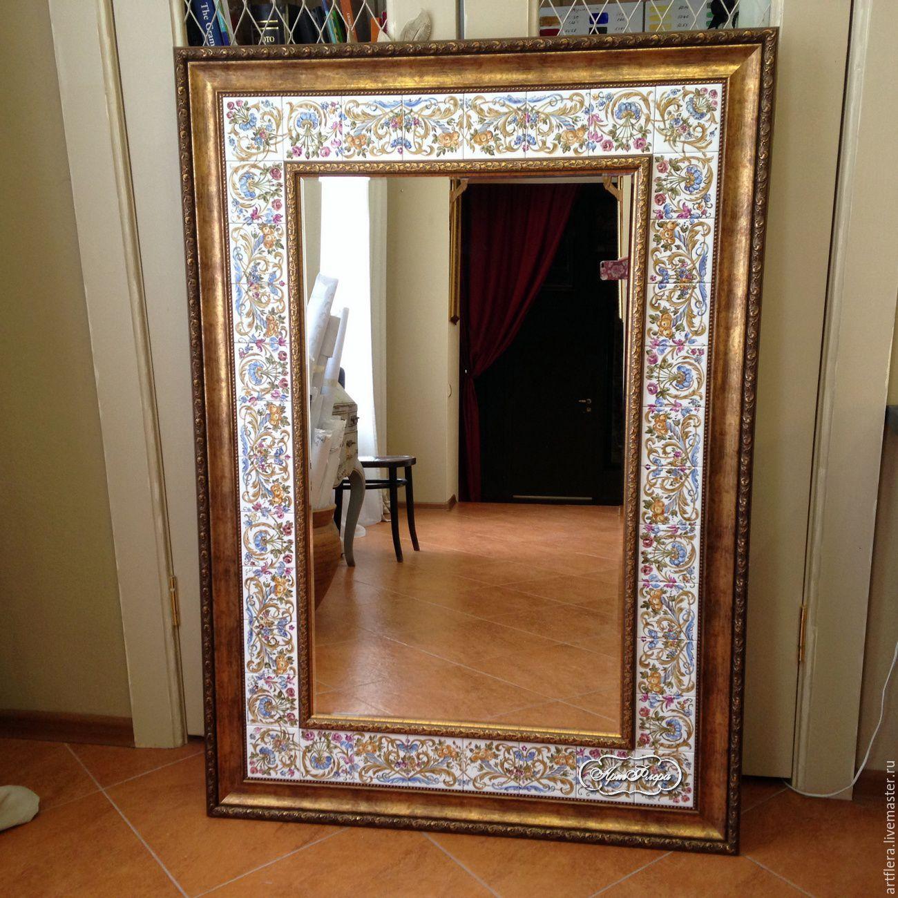 Painted mirror the Mirror in the bathroom, Mirror, Kazan,  Фото №1