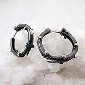 Earrings handmade. Livemaster - original item Unisex earrings Bionica black. Handmade.