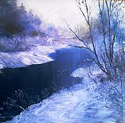 """Картины ручной работы. Ярмарка Мастеров - ручная работа картина """"Морозным утром"""". Handmade."""