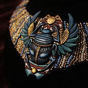 Украшения ручной работы. Ярмарка Мастеров - ручная работа Колье Скарабей египетский стиль. Handmade.