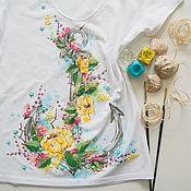 Одежда handmade. Livemaster - original item T-shirt anchor. Handmade.