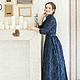 Платья ручной работы. Ярмарка Мастеров - ручная работа. Купить Платье из хлопка Sapphire. Handmade. Тёмно-синий, платье в пол