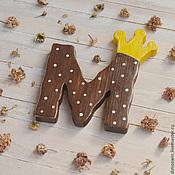 Для дома и интерьера ручной работы. Ярмарка Мастеров - ручная работа Буква с короной из дерева, деревянные буквы, деревянные слова. Handmade.