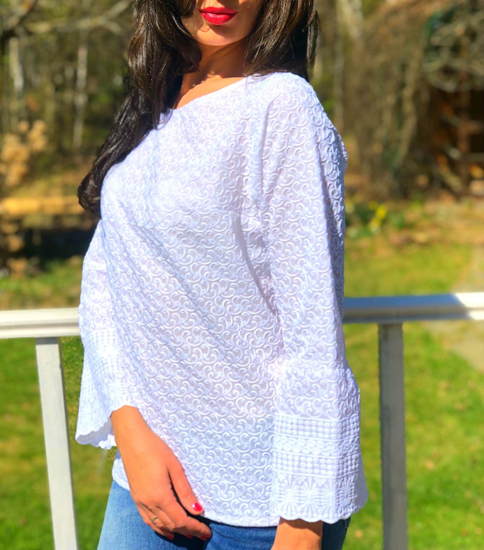 1b6f8438878 Blouses handmade. Livemaster - handmade. Buy Blouse white loose  cotton-sewing.