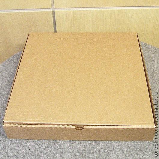 Упаковка ручной работы. Ярмарка Мастеров - ручная работа. Купить Коробка 50х50х8 из микрогофрокартона коричневого. Handmade. Коробочка, коробка подарочная