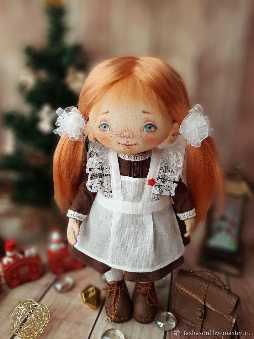 Текстильная коллекционная кукла Первоклассница, Куклы и пупсы, Балахна,  Фото №1