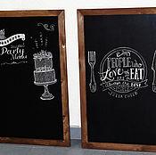 Дизайн и реклама ручной работы. Ярмарка Мастеров - ручная работа Грифельная доска. Handmade.